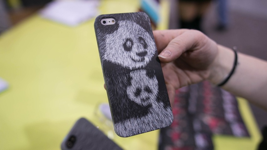Panda-iphone-fur-case