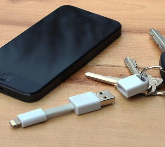 USB iPhone lightining charger for keychain