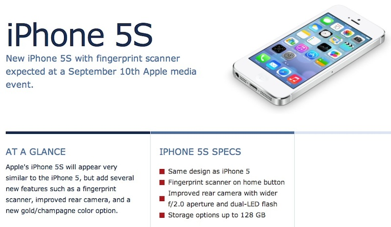 iPhone 5S, Apple iWatch, And iPhone 5C Design : Specifications