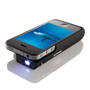 2538258d01a1db Use Your iPhone 4 / 4S As A Mini Pocket Projector Unit By Brookstone ...