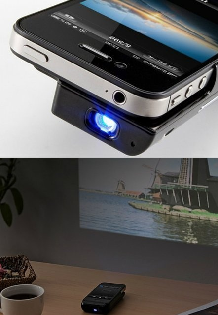 Use your iphone 4 4s as a mini pocket projector unit by for Used pocket projector