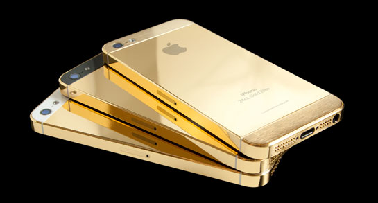 We Finally Found These Images Which Were Recently Released A Few Hours Ago Showing What The IPhone 5S Looks Like When Placed Next To ALL GOLD Version
