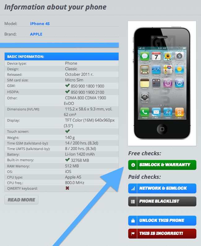 how to tell if iphone is unlocked iphone unlock check via imei how to tell if it s factory 20361